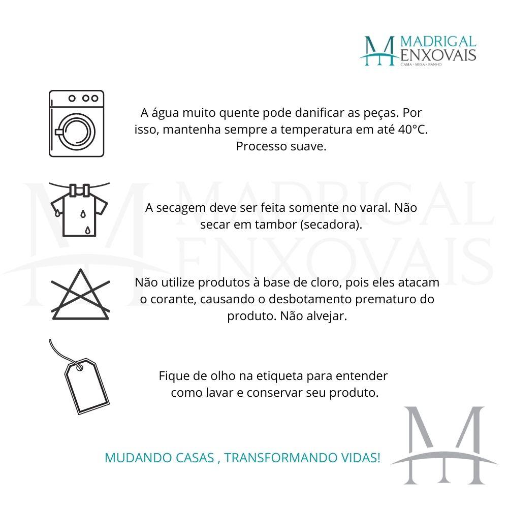 Tapete Banheiro Naturalle Bogotá 60x100cm Algodão Antiderrapante