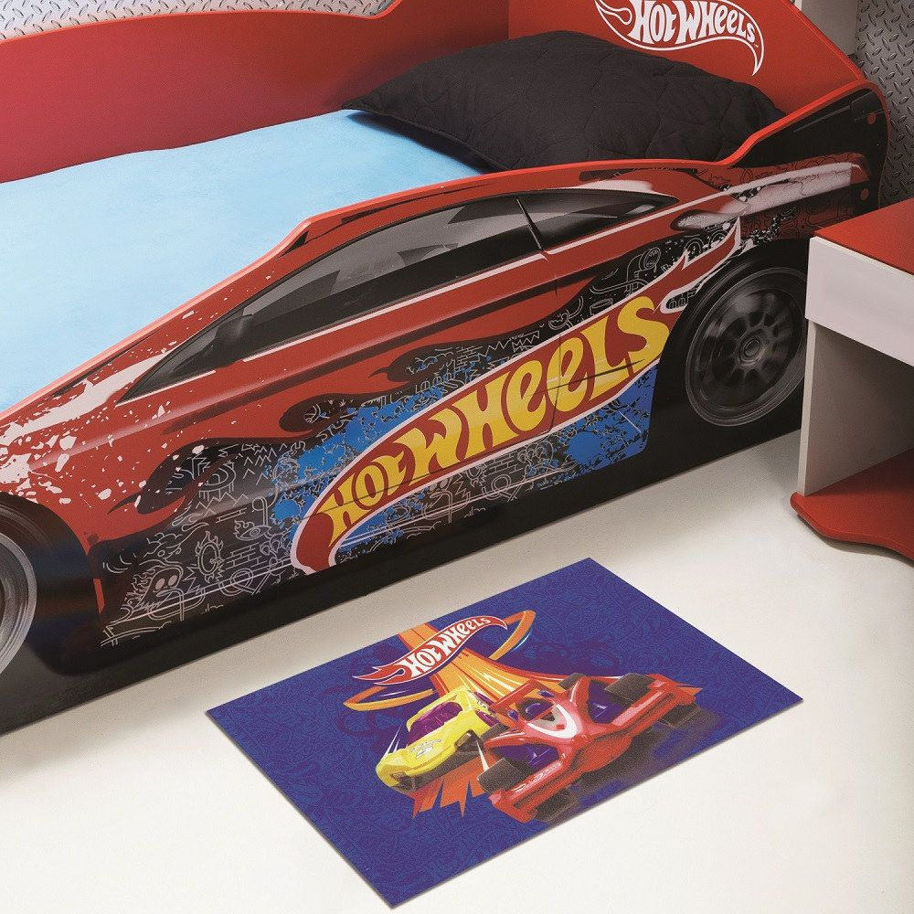Tapete Infantil Jolitex Digital Hot Wheels Acelera 0,40m X 0,60m