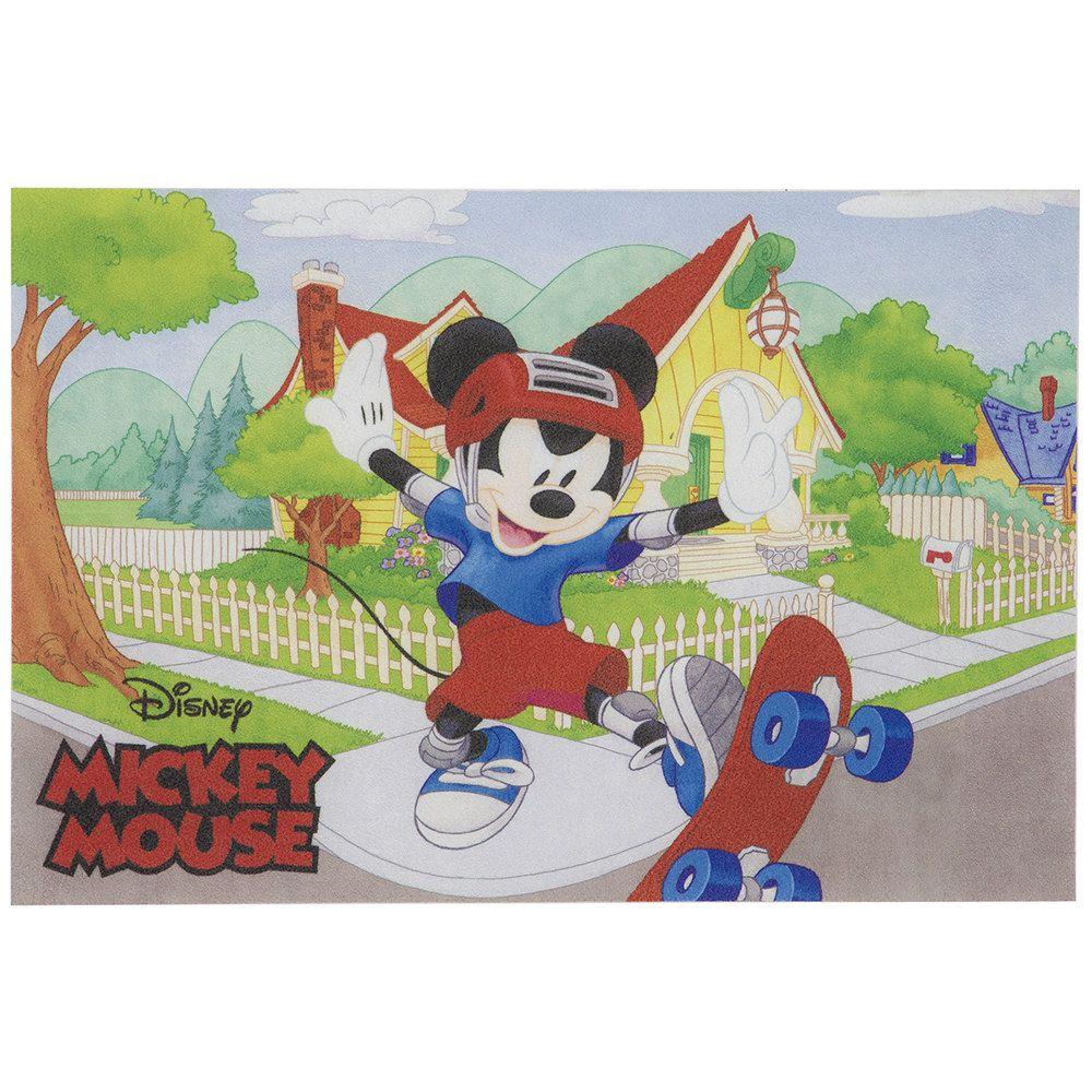 Tapete Infantil Jolitex Digital Mickey Skatista 0,40m X 0,60m