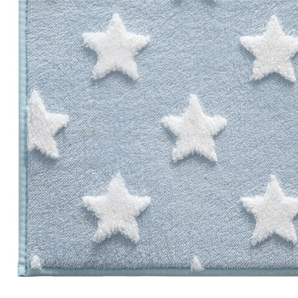 Tapete Infantil Jolitex Mimo Estrelas Azul 0,70x1,00m Antiderrapante