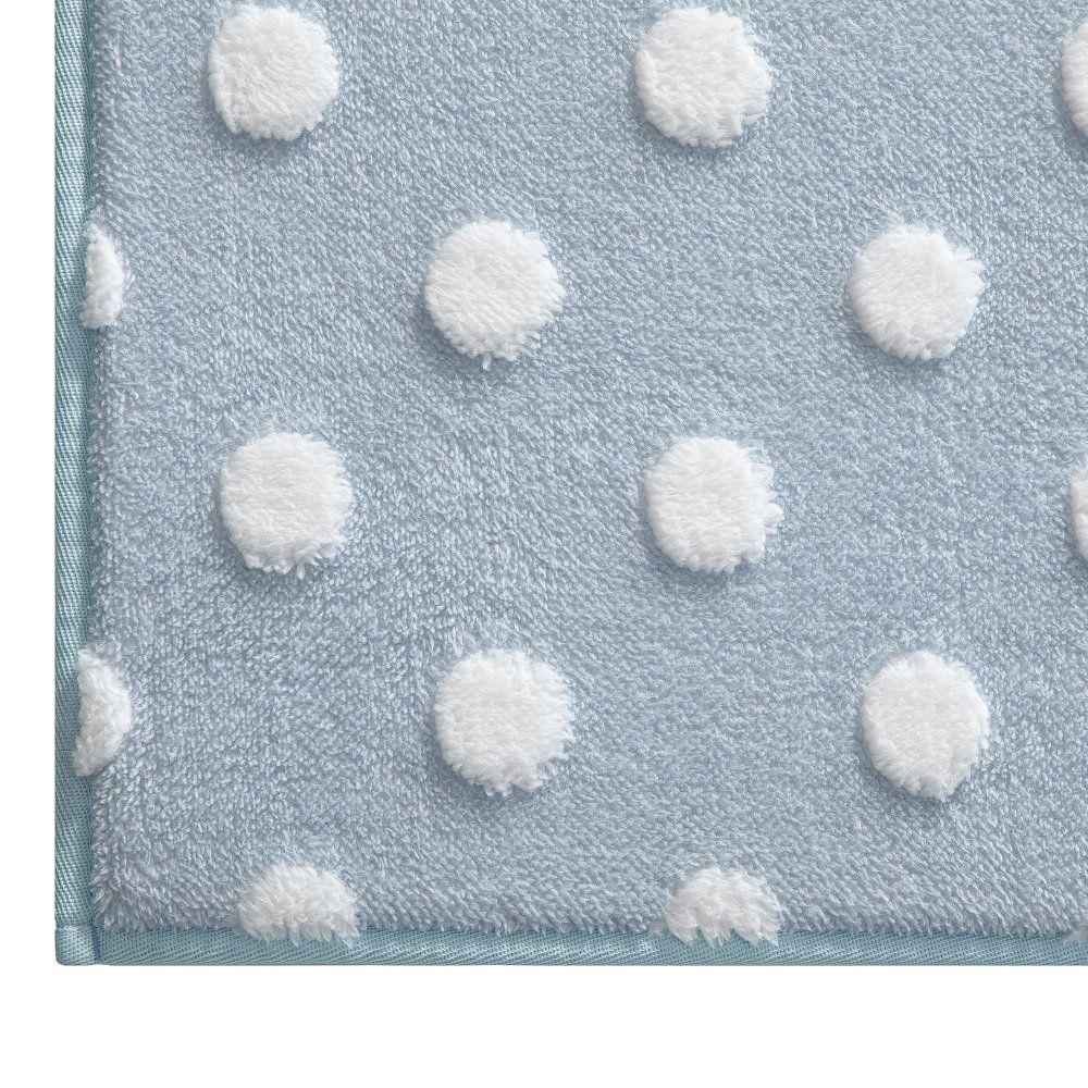Tapete Infantil Jolitex Mimo Poa Azul 0,70x1,00m Antiderrapante