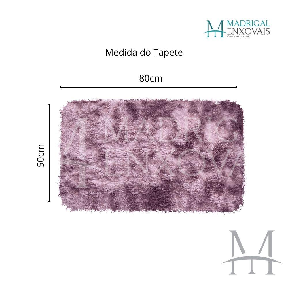 Tapete Jolitex Luxo Felpudo Pelo Alto 0,50x0,80m Mescla Rose