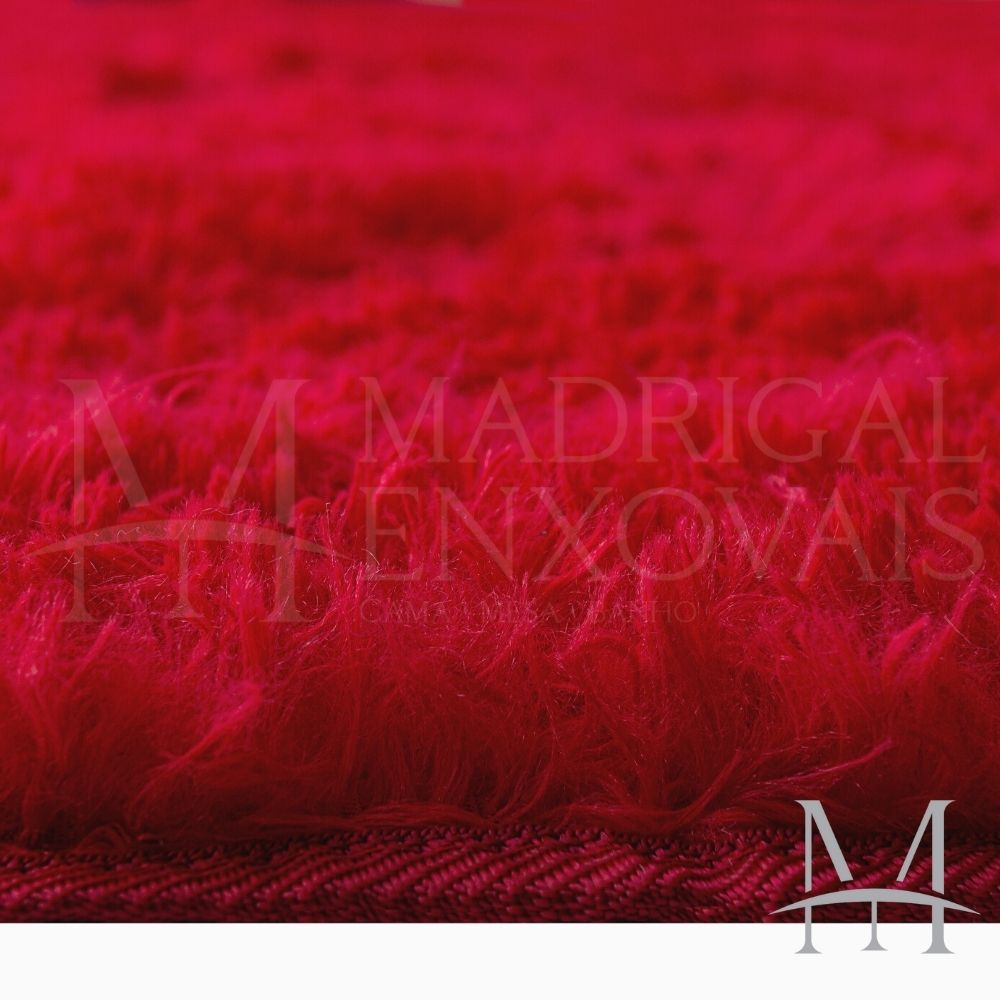 Tapete Jolitex Luxo Felpudo Pelo Alto 0,50x0,80m Vermelho