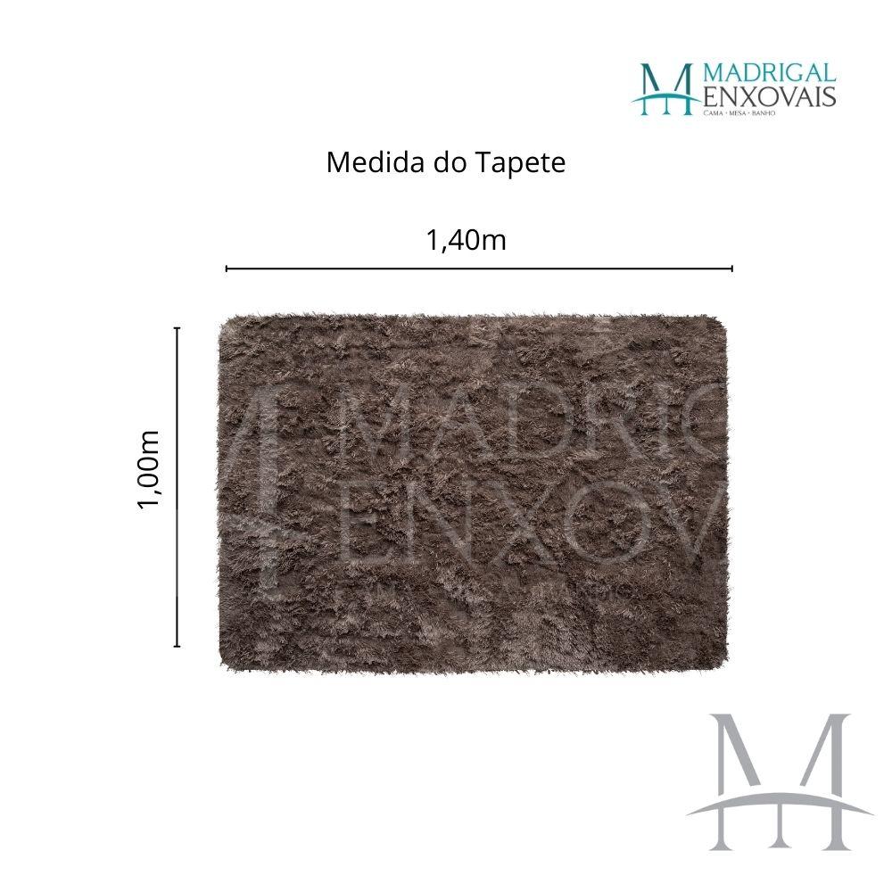 Tapete Jolitex Luxo Felpudo Pelo Alto 1,00x1,40m Caqui