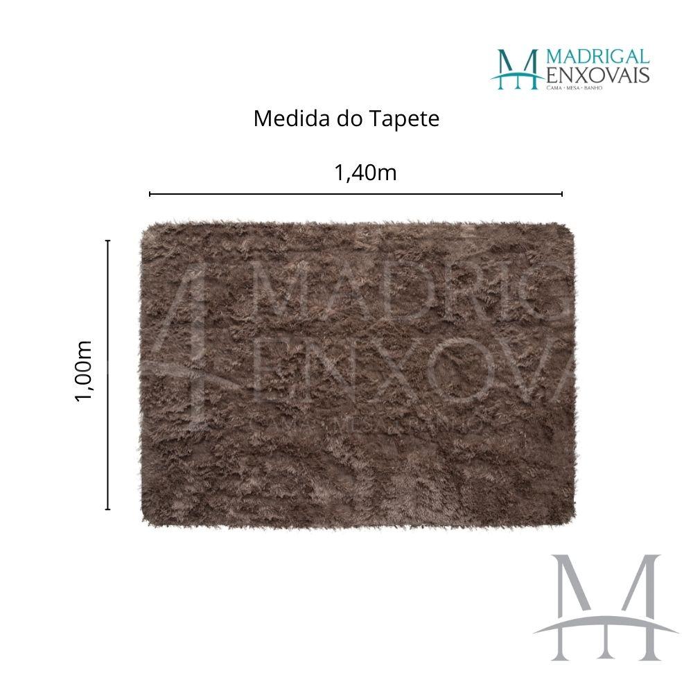 Tapete Jolitex Luxo Felpudo Pelo Alto 1,00x1,40m Marrom