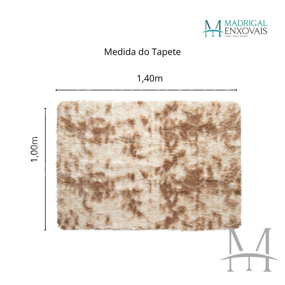 Tapete Jolitex Luxo Felpudo Pelo Alto 1,00x1,40m Mescla Marfim
