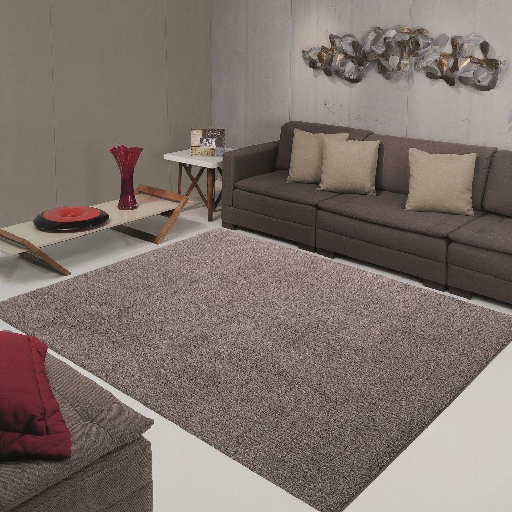 Tapete para Sala Quarto Jolitex Milano 1,00x1,40m Cinza