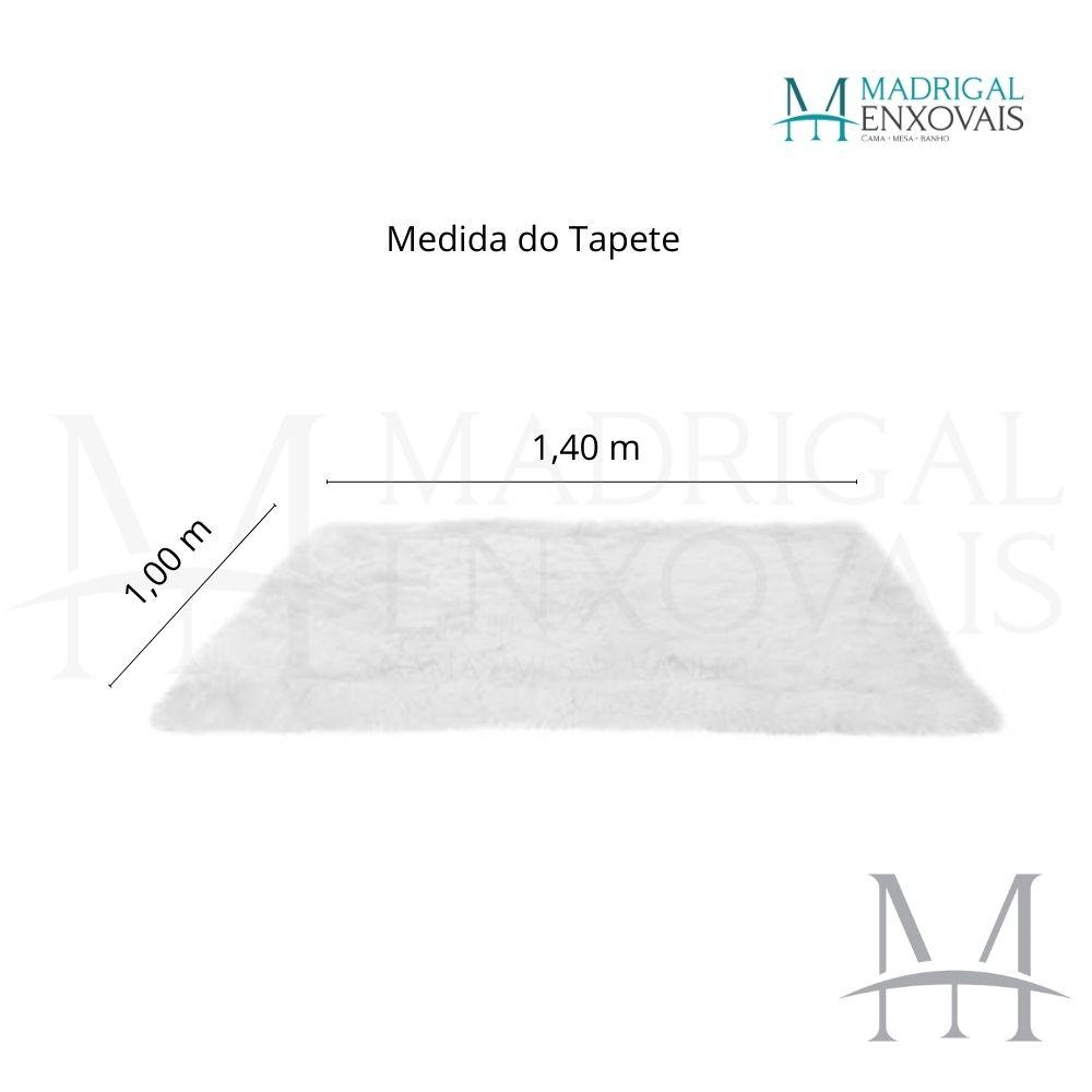 Tapete para Sala Quarto Mosaico Felpudo 1,00x1,40m Cinza