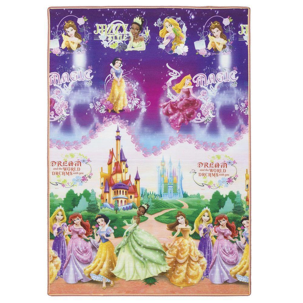 Tapete Recreio Jolitex Dupla Face 1,20x1,80m Princesas