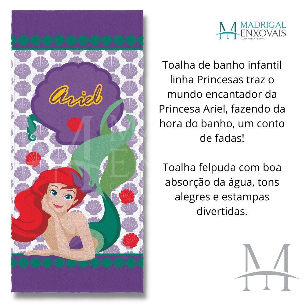 Toalha Banho Infantil Lepper Felpuda Princesa Ariel Oficial