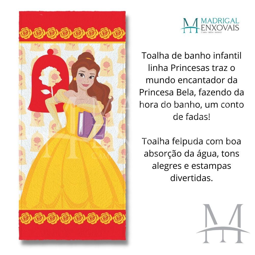 Toalha Banho Infantil Felpuda Princesa Bela Lepper Oficial