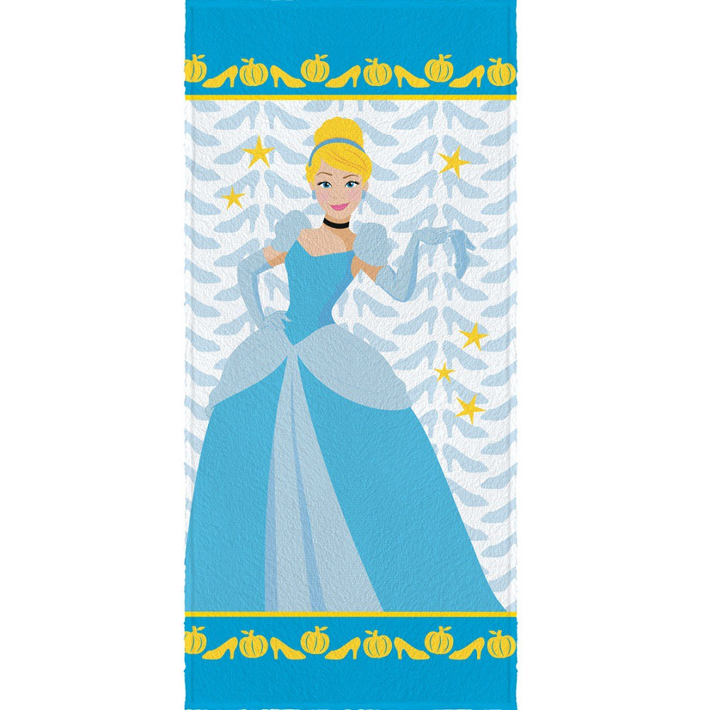 Toalha Banho Infantil Felpuda Princesa Cinderela Lepper Oficial