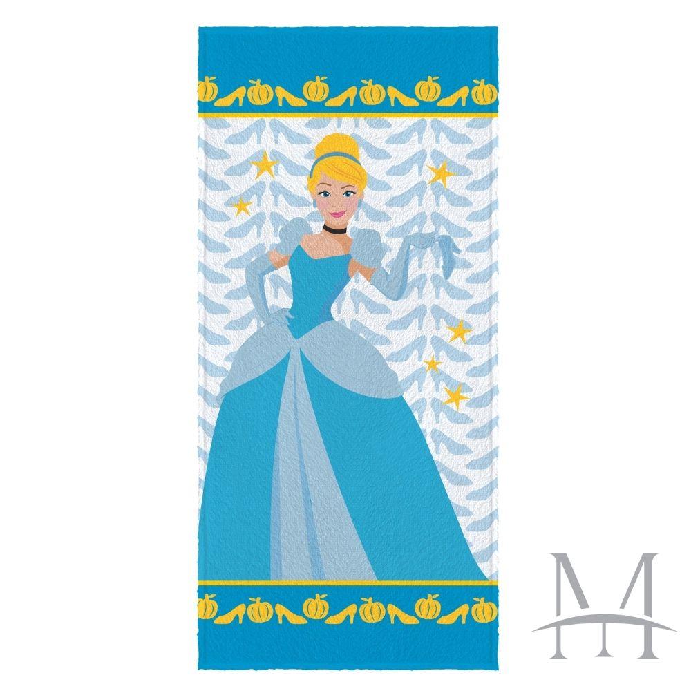 Toalha Banho Infantil Lepper Felpuda Princesa Cinderela Oficial