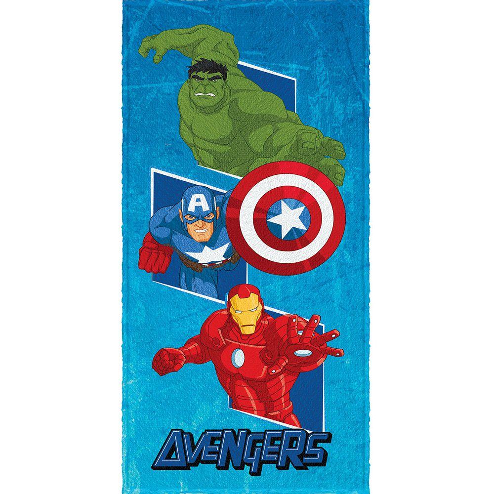 Toalha Banho Infantil Felpuda Vingadores Avengers Lepper #4