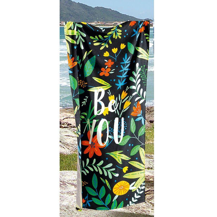Toalha De Banho E Praia Be You Aveludada 0,76x1,52m Dohler
