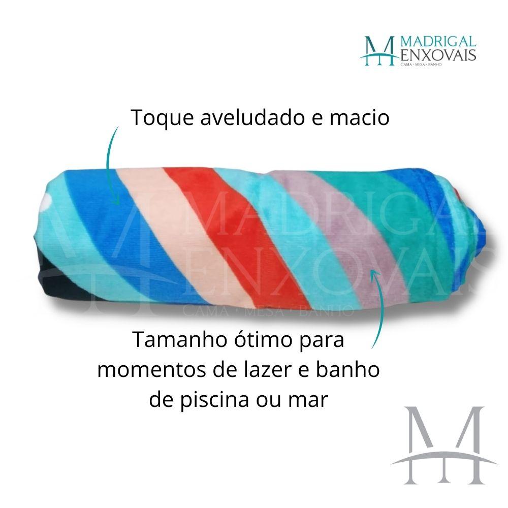 Toalha De Banho E Praia Dohler 0,76x1,52m Every Thing Aveludada