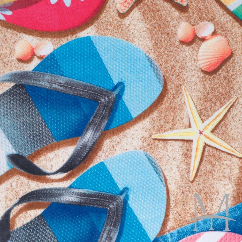 Toalha De Banho E Praia Dohler 0,76x1,52m Sandals Aveludada