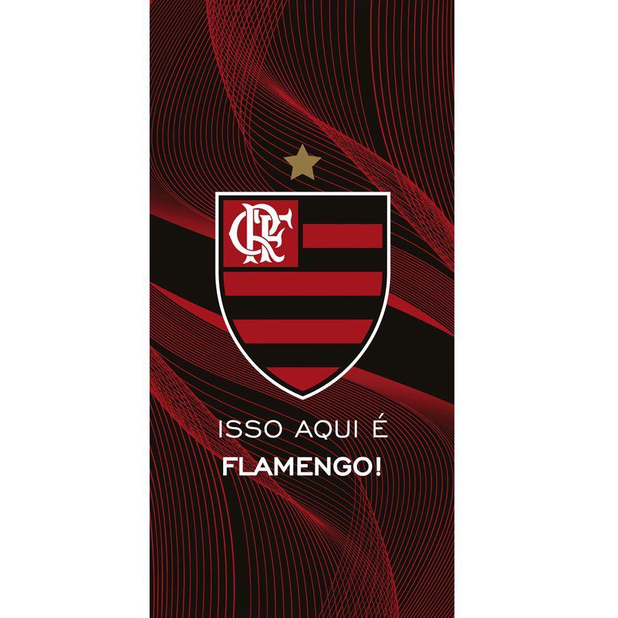 Toalha De Banho E Praia Flamengo 10 Aveludada 0,76x1,52m Dohler