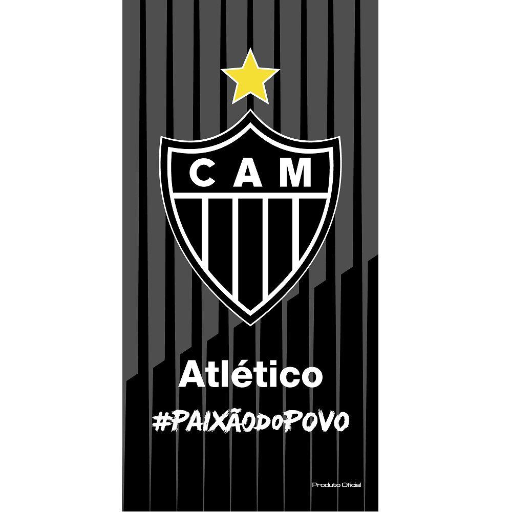 Toalha De Banho E Praia Time Aveludada Atlético Mineiro Oficial