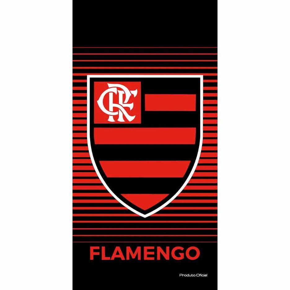 Toalha De Banho E Praia Time Aveludada Flamengo Brasão Oficial