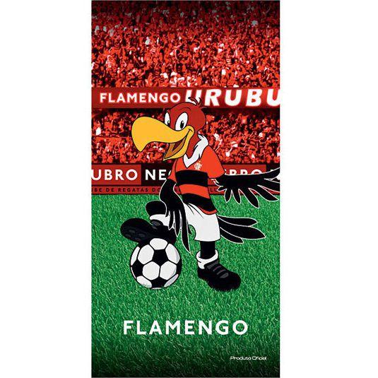 Toalha De Banho e Praia Time Aveludada Flamengo Oficial Mascote