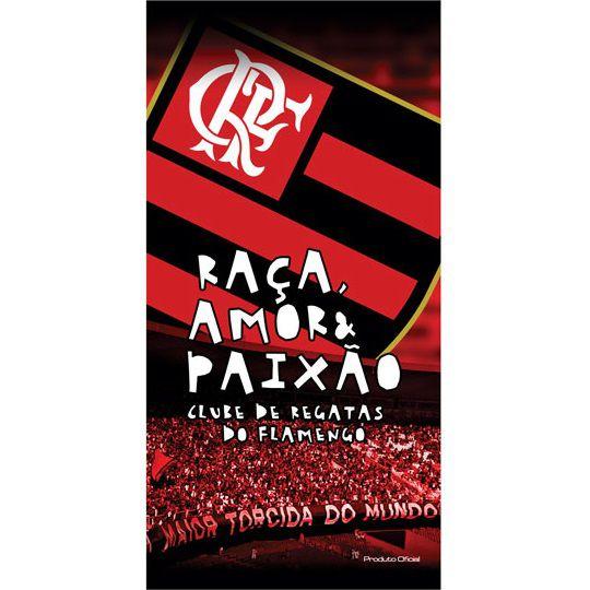 Toalha De Banho e Praia Time Aveludada Flamengo Torcida Oficial