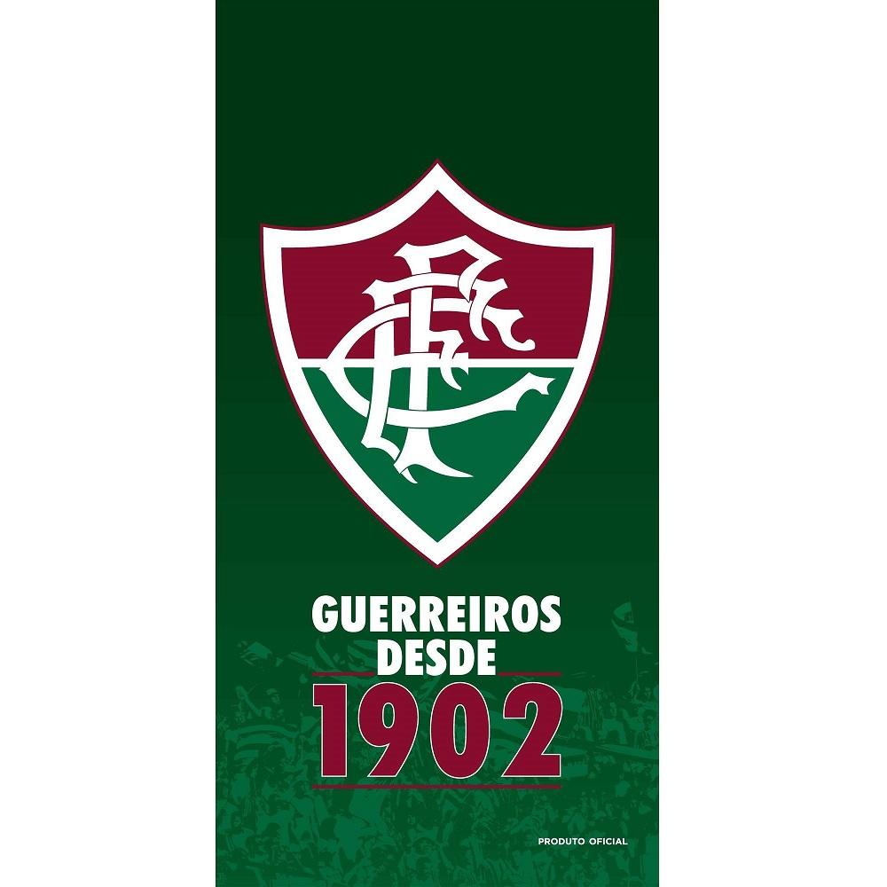 Toalha de Banho e Praia Time Aveludada Fluminense Oficial