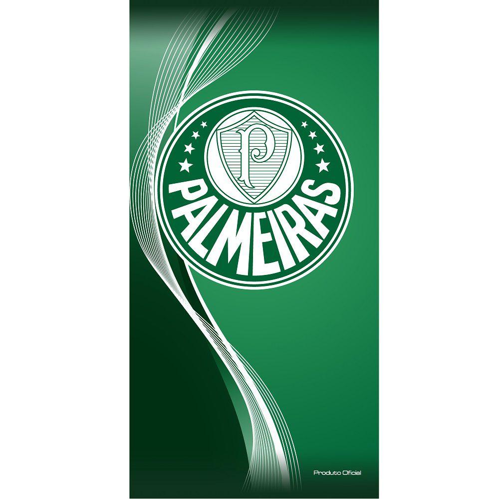 Toalha De Banho E Praia Time Aveludada Palmeiras Oficial