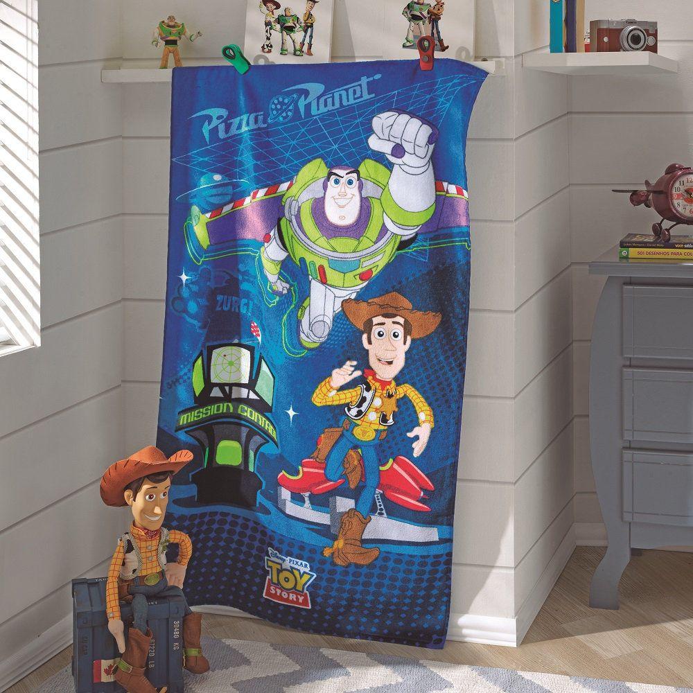 Toalha De Banho E Praia Toy Story Aveludada 0,70x1,30m Dohler