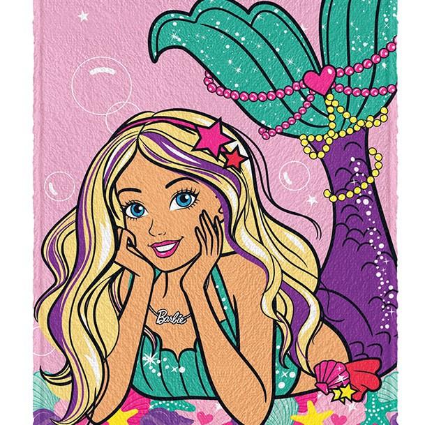 Toalha De Banho Infantil Barbie R. Mágicos Felpuda Lepper #2