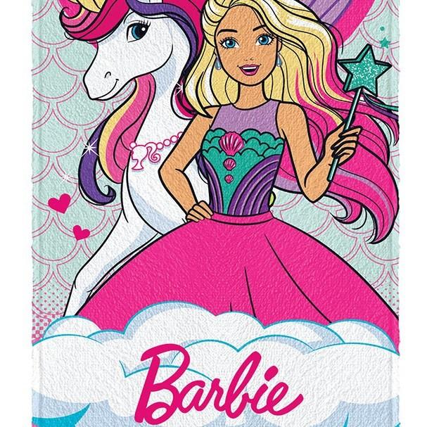 Toalha De Banho Infantil Barbie R. Mágicos Felpuda Lepper #4