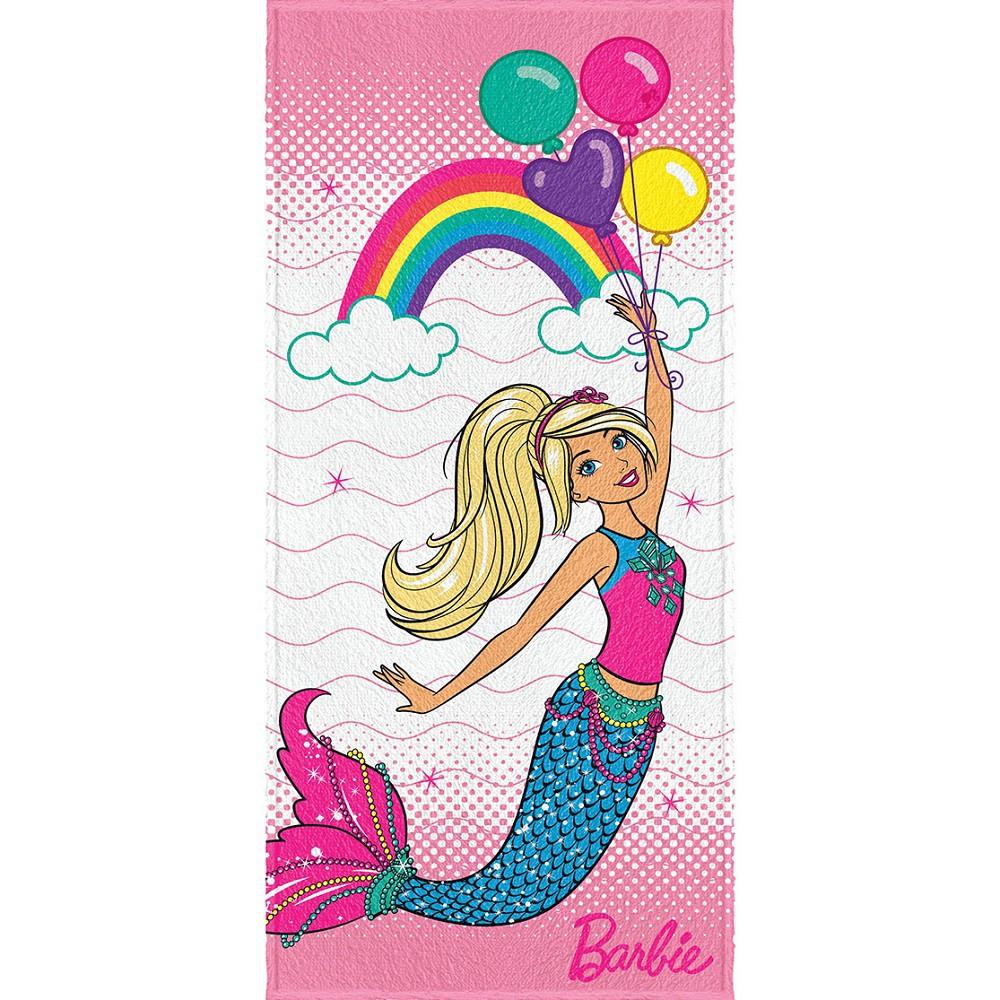 Toalha De Banho Infantil Barbie R. Mágicos Felpuda Lepper #5
