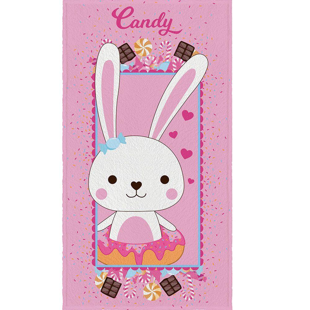 Toalha de Banho Infantil Felpuda 0,60x1,10m Candy Lepper