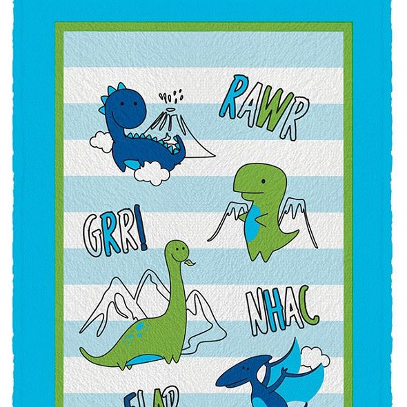 Toalha de Banho Infantil Felpuda 0,60x1,10m Dino Lepper