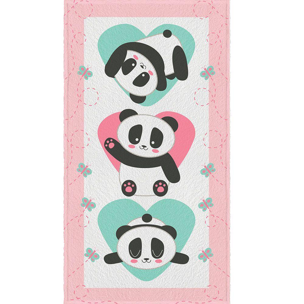 Toalha de Banho Infantil Felpuda 0,60x1,10m Panda Lepper