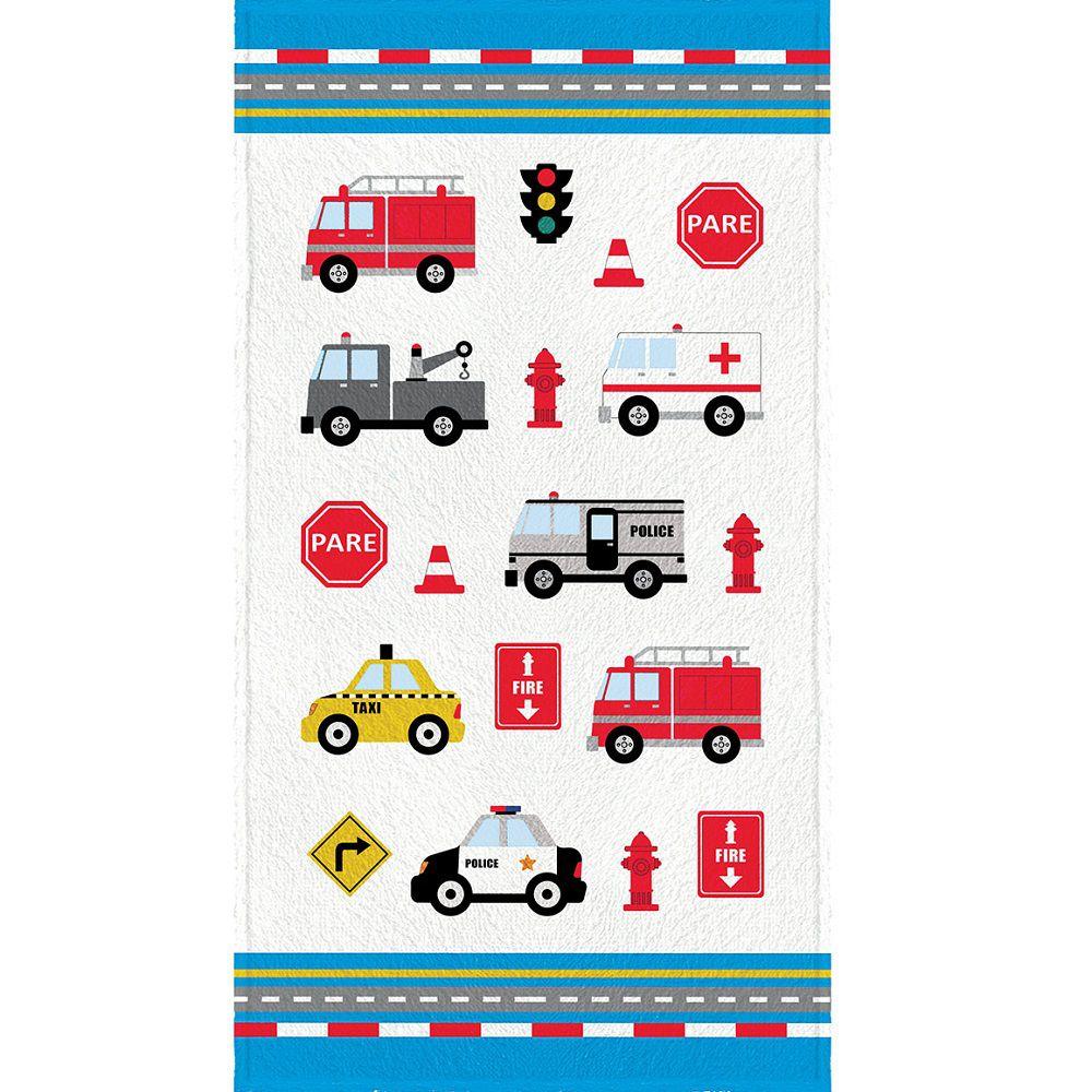 Toalha de Banho Infantil Felpuda 0,60x1,10m Truck Azul Lepper