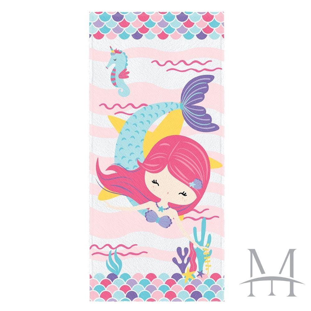 Toalha de Banho Infantil Lepper Felpuda 0,60x1,10m Oceano Colorido