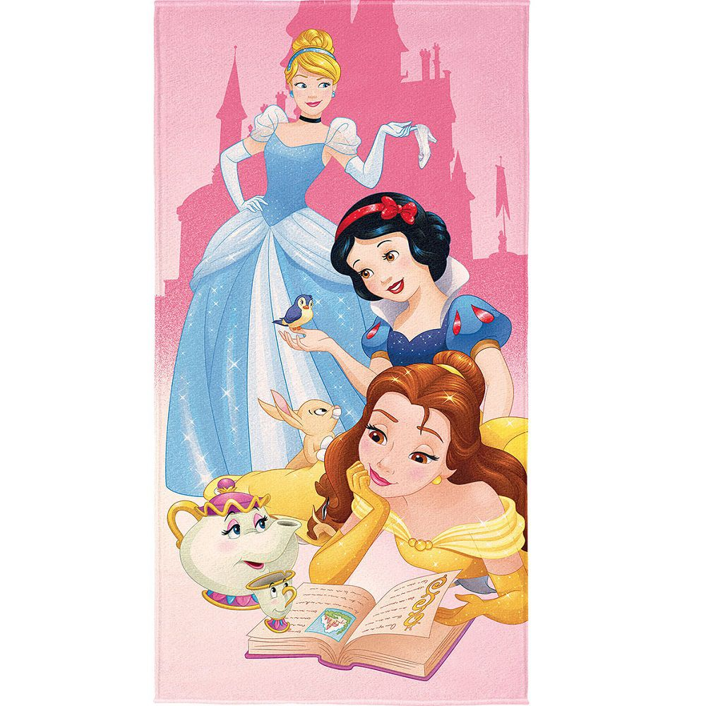 Toalha De Banho Infantil Transfer Aveludada Princesas Lepper