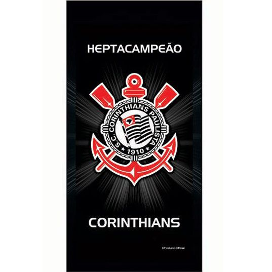 Toalha De Banho Praia Time Aveludada Corinthians Oficial #1