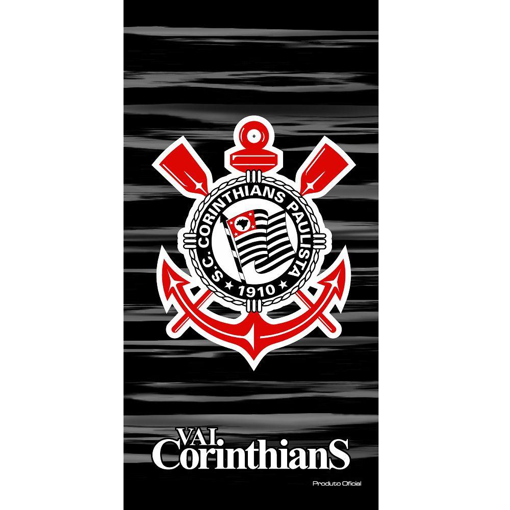Toalha De Banho Praia Time Aveludada Corinthians Oficial