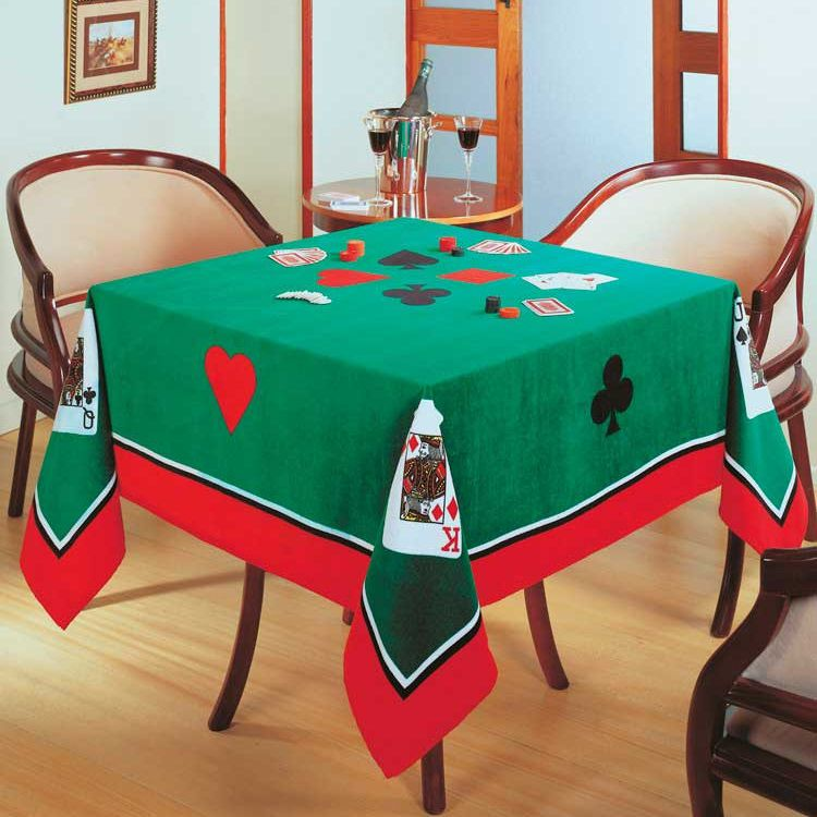 Toalha De Mesa Aveludada Jogos Baralho Poker Truco Dohler