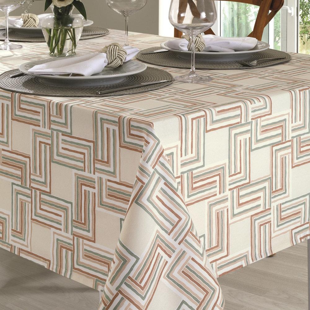 Toalha De Mesa Dohler Clean Limpa Fácil Athenas 1,40x1,40m Emily