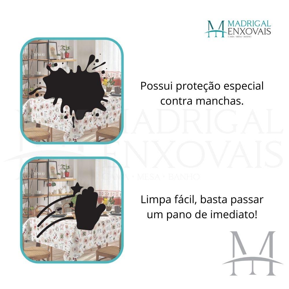 Toalha De Mesa Dohler Clean Limpa Fácil Athenas 1,40x1,40m Emma
