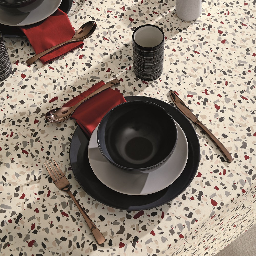Toalha De Mesa Dohler Clean Limpa Fácil Athenas 1,40x1,40m Evelyn