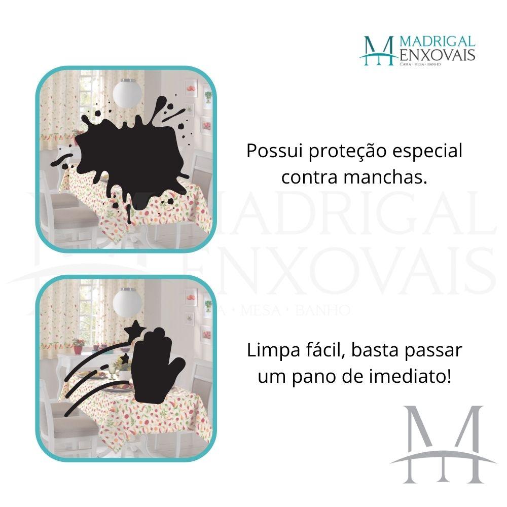 Toalha De Mesa Dohler Clean Limpa Fácil Athenas 1,40x1,40m Iara