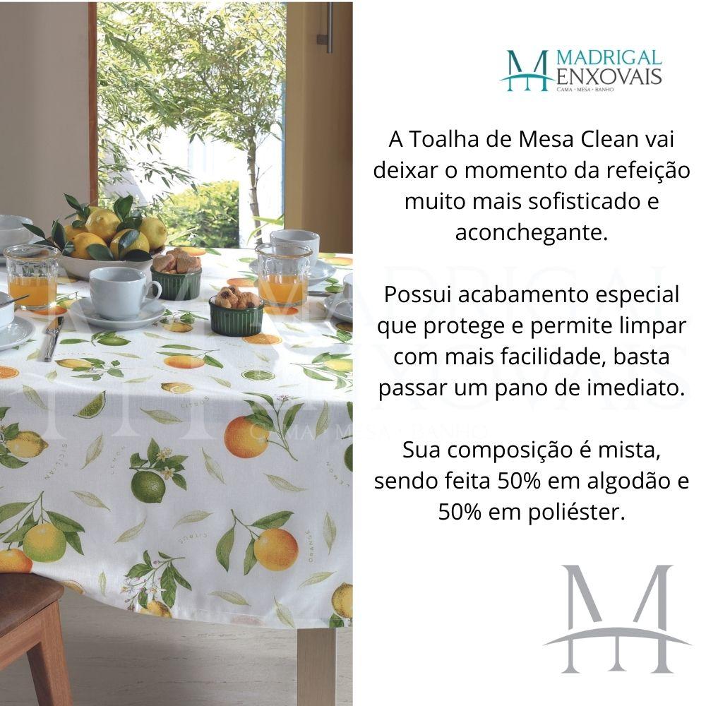 Toalha De Mesa Dohler Clean Limpa Fácil Athenas 1,40x1,40m Isa