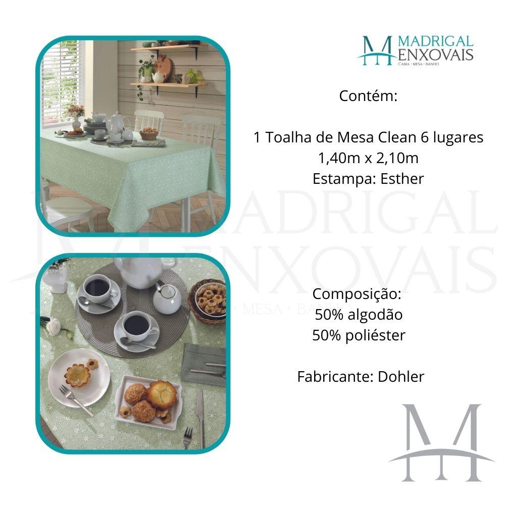 Toalha De Mesa Dohler Clean Limpa Fácil Athenas 1,40x2,10m Esther