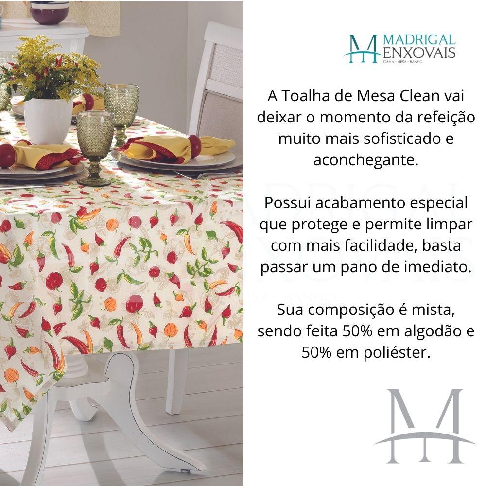 Toalha De Mesa Dohler Clean Limpa Fácil Athenas 1,40x2,10m Iara