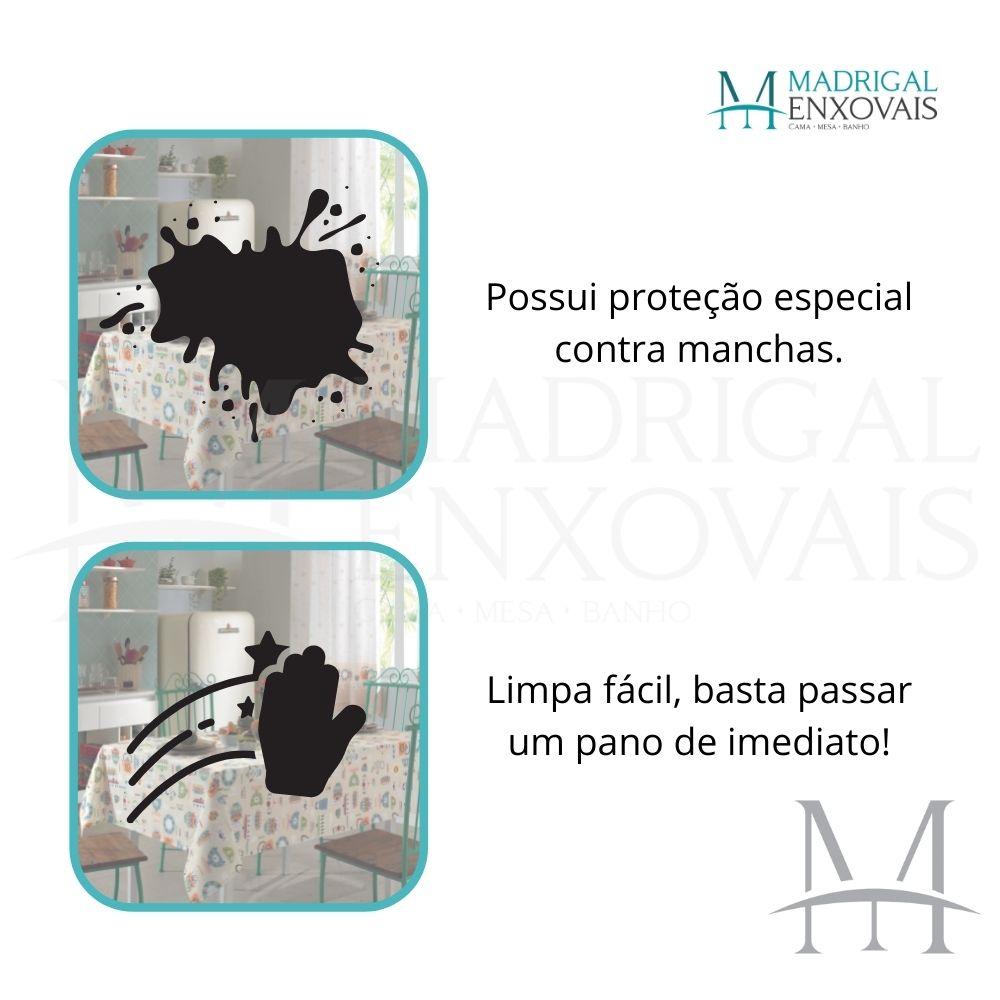 Toalha De Mesa Dohler Clean Limpa Fácil Athenas 1,60x2,50m Edilene
