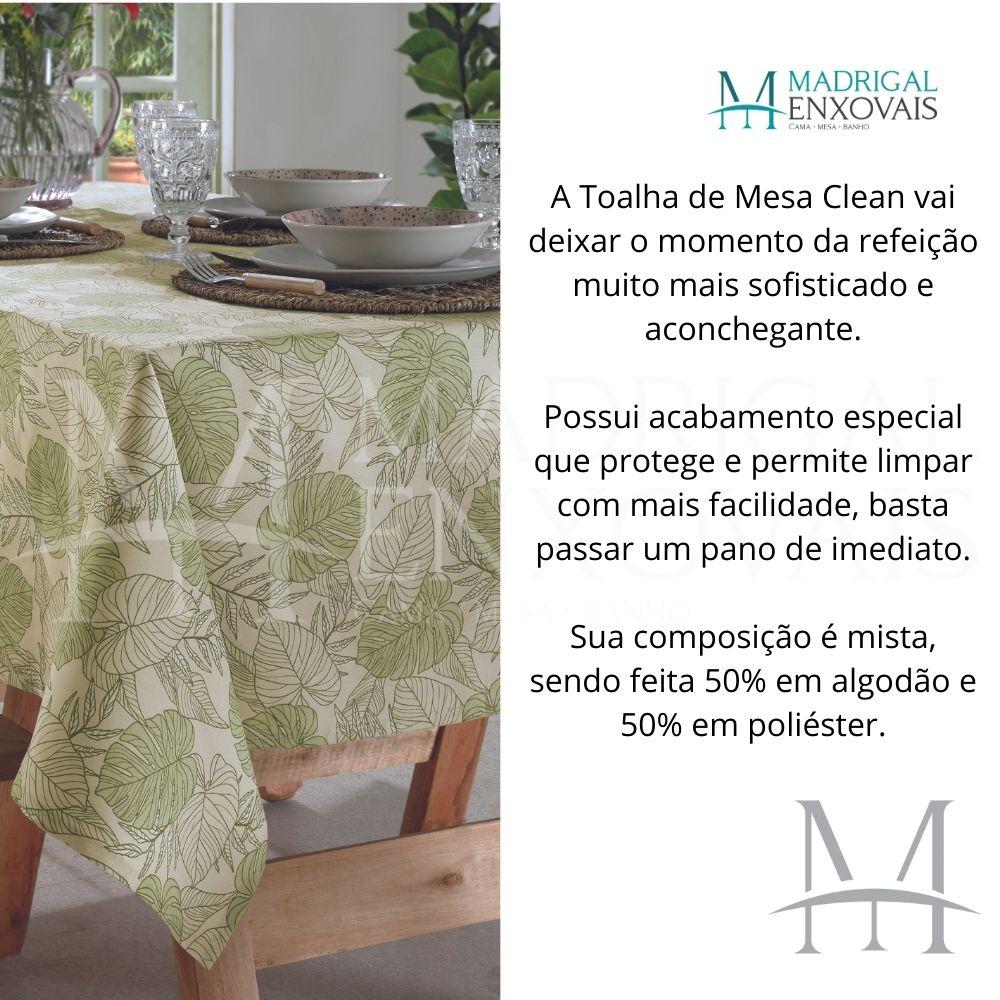 Toalha De Mesa Dohler Clean Limpa Fácil Athenas 1,60x2,50m Elma